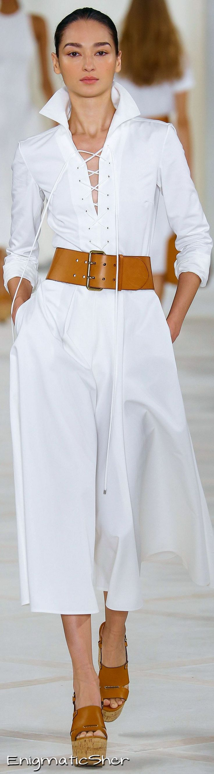 Ralph Lauren ~ Spring White Maxi Dress, 2016