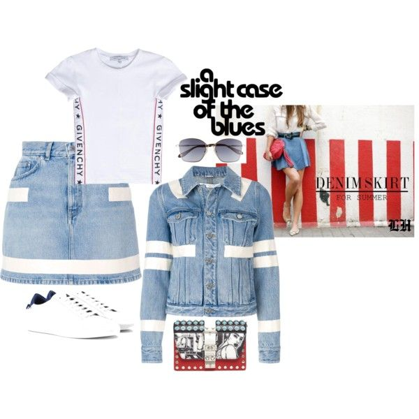 A Slight Case Of The Blues! by lheijl on Polyvore featuring Givenchy and Prada