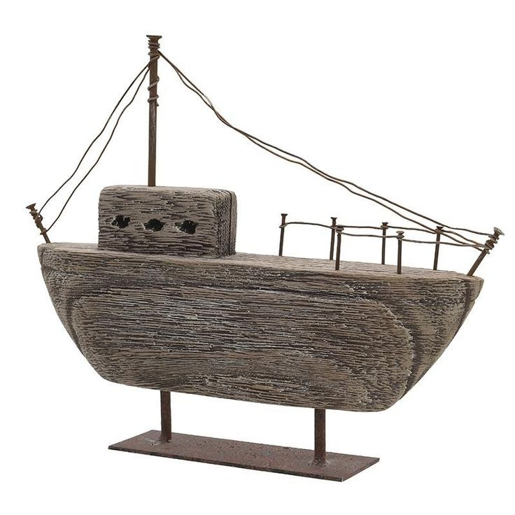 Miniature Boat - Metallic - Minatures - DECORATIONS - inart