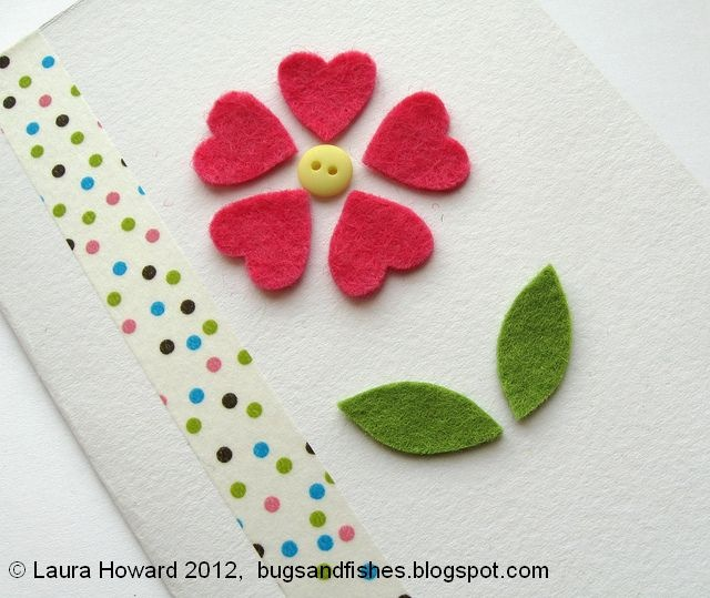 felt cut out templates | Arrange the pieces on your card as shown with the mini button in the ...