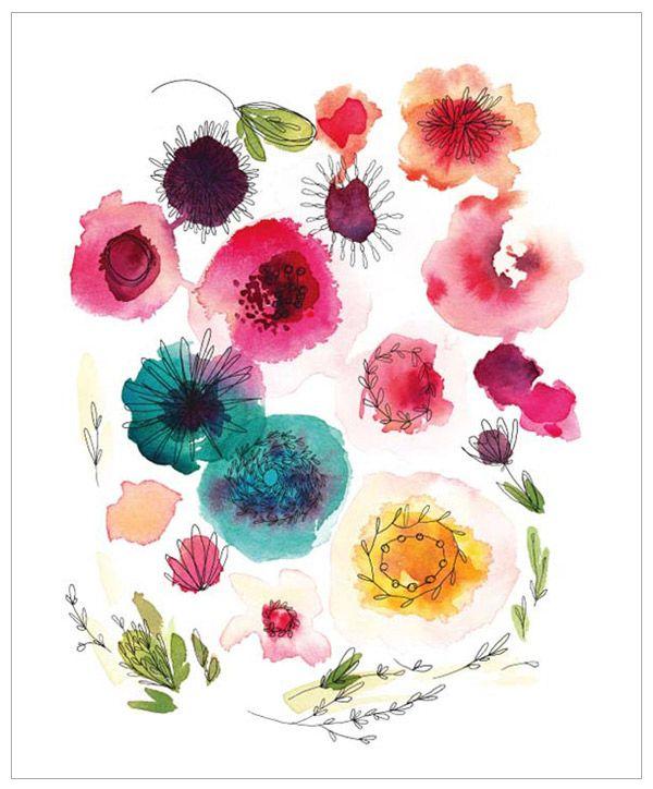 Pretty Watercolor Prints from Kelly Ventura #illustration #watercolor