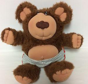 "Vintage Furskins Dark Brown Bear 14"" Plush Xavier Roberts Stuffed Animal 1985 | eBay"