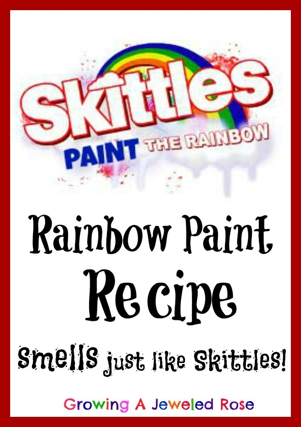 Rainbow Paint that smells just like Skittles- sensory painting at it's best!  Paint the rainbow! God Gives Promise!