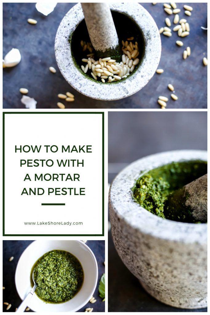 How To Make Mortar And Pestle Pesto Recipe Pesto Mortar And Pestle How To Make Pesto