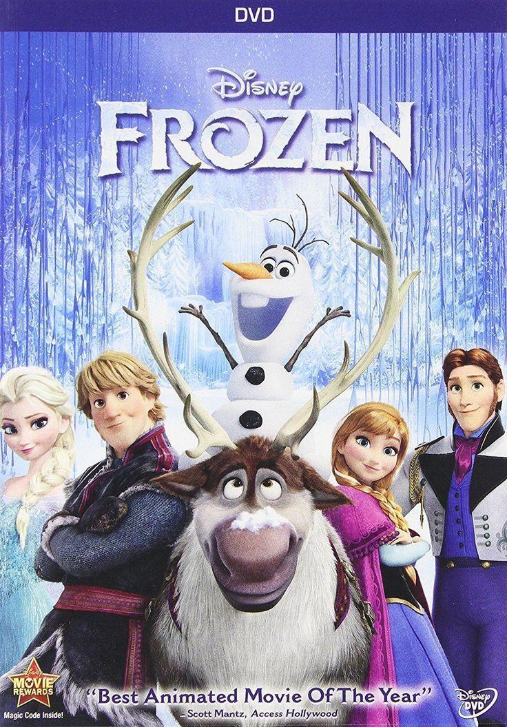 Frozen DVD New Animation Movies 2014 Disney Children Family Movie