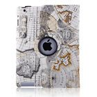 360 Rotating PU Leather Folio Smart Case Cover Stand For Apple iPad 2/3/4 NEW