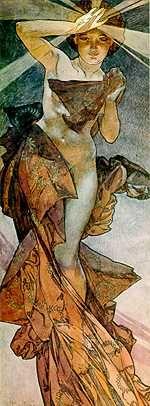 MuchaArtists, Alphons Mucha, Third Eye, Art Nouveau, Artworks, Mornings Stars, 19Th Century, Alphonse Mucha So, The Moon