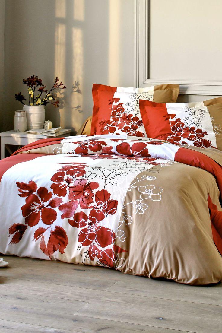 vente blancheporte 20695 linge de lit fleuris taie de traversin val rie rubis textil. Black Bedroom Furniture Sets. Home Design Ideas
