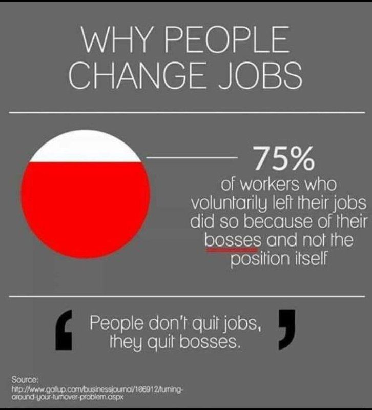 "Thought for the Week: ""People don't leave bad jobs, they ..."