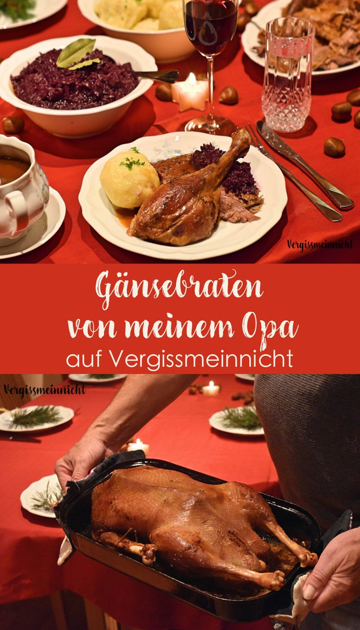 Gänsebraten von meinem Opa zubereitet. Perfektes Essen für Heiligabend oder Nikolaus. Familienessen für Weihnachten.