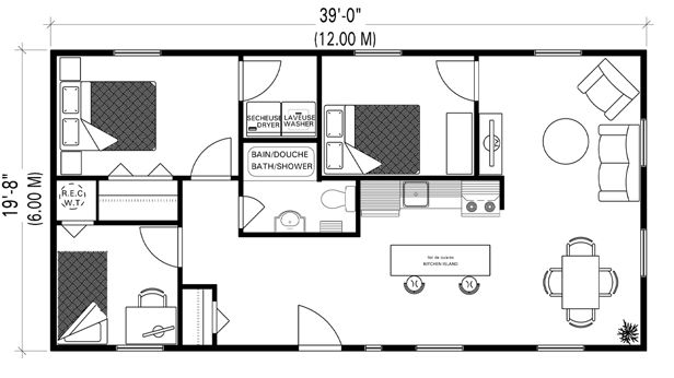 Tiny Home Designs: Small House Floor Plan Layout Only