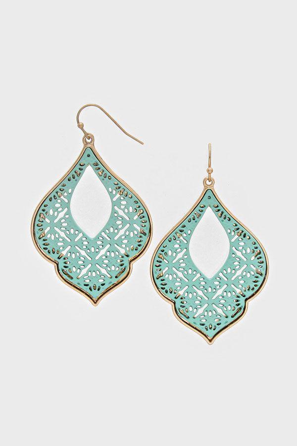 Exotic mint earrings
