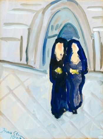 Two Nuns by Irma Stern