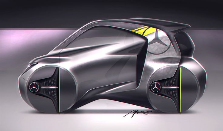 Mercedes-Benz, tiny car on Behance