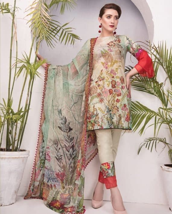 3b0a8dea57 Pin by Umar Poshak Mehal on MAYANAZ Print Embroidered Lawn By Nur Series  Collection 2018 | Lawn, Collection