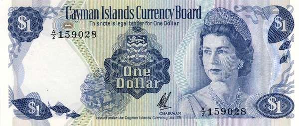 Billet de banque - Cayman - Pick 1 - 1 dollar