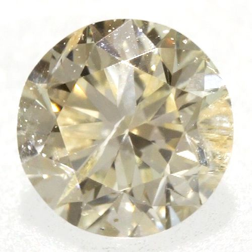 0.07 ctw Round Brilliant Yellow (Y3) I2 Clarity 2.71 mm Natural Loose Diamond