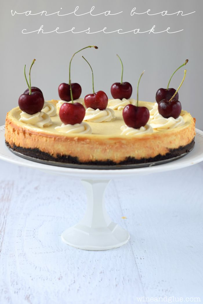 Vanilla bean cheesecake, Cheesecake and Vanilla on Pinterest