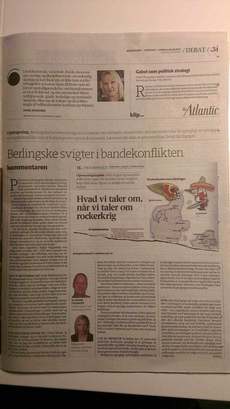 Kommentar bragt på Berlingskes debatsider - men et svar fra avisens chefredaktion. Lad os bare sige det sådan her: De er IKKE enige i vores vinkel!