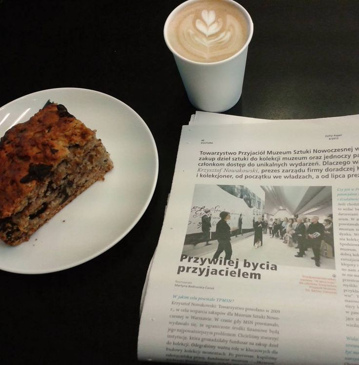 Press news about the Museum over a cup of coffee and a piece of delicious cake from our cafe. This is how we like to start a day.:)