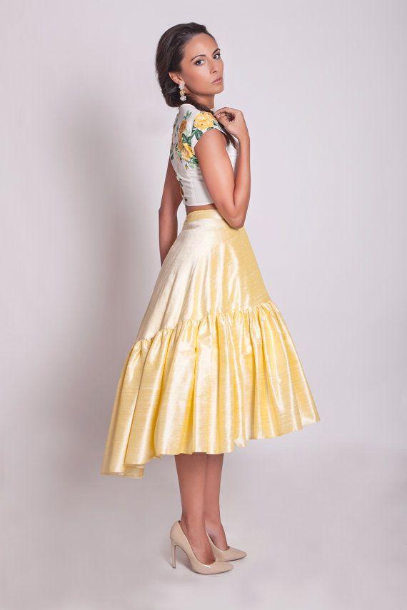 50 ans de style jupe bas haute pleine 50 s jupe par ElaSiromascenko