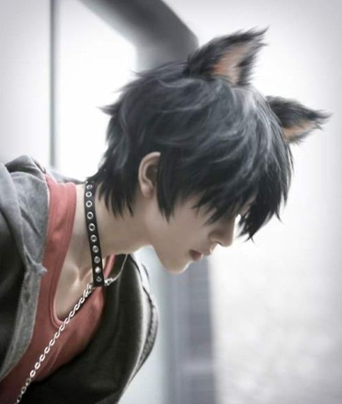 asian boy cat ears