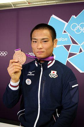 柔道男子66キロ級銅メダルの海老沼匡選手