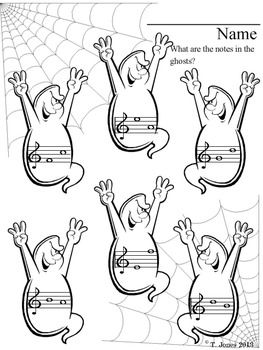 Are your students SPOOKED by reading notes?  Not any more!  Try these!  They love the challenge!