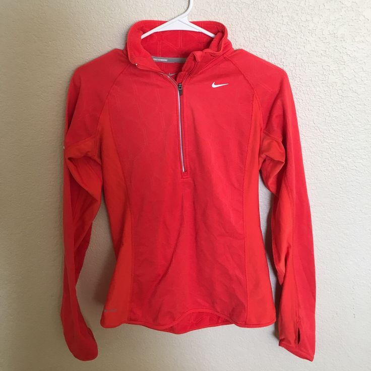 Orange Nike Fleece Pullover