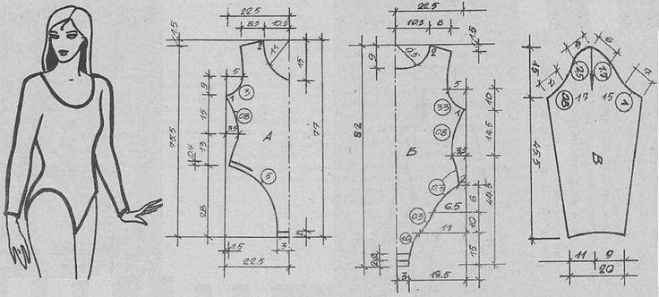 Комбидрес с рукавами Размер 44 (168-88-94) Модель шьется только из эластичных материалов. Для пошива этого комбидреса потребуется:  Трикотажное полотно 1,10 м шириной 150 см; резинка шириной 0,5 см; 3 пары крючков и петелек
