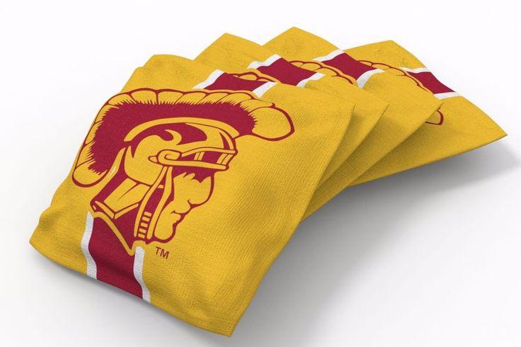 USC Trojans Stripe Bean Bags-4pk (B)