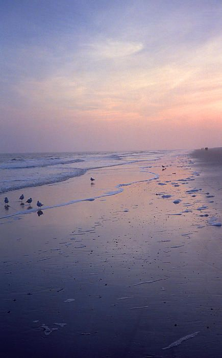 Beach at Dusk. Sunset on Hilton Head Island, South Carolina. Taken from my dusty film archives and scanned just for the color of this late day sky.
