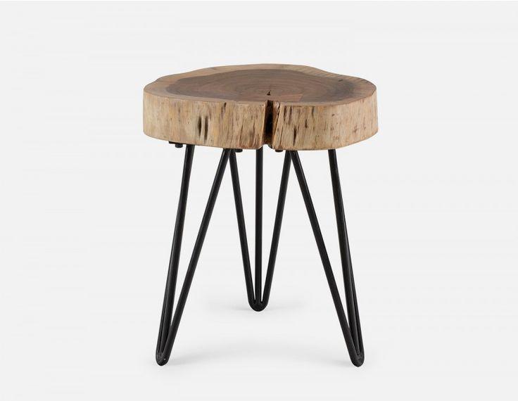 BORA - Solid acacia wood end table - Natural