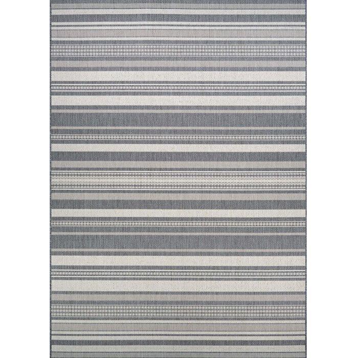 Beachcrest Home Anguila Stripe Gray Indoor/Outdoor Area Rug & Reviews | Wayfair