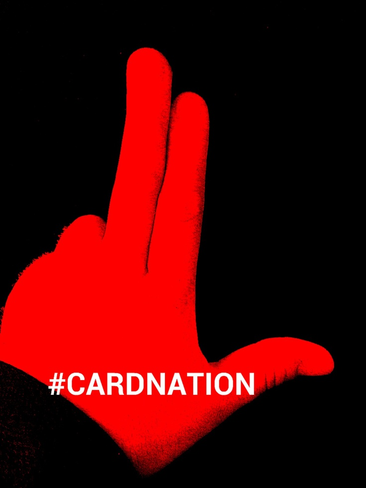 Put your L's up to the sky!!! #Cardnation #L1C4