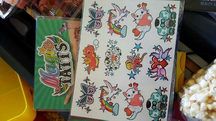 Those Magic Tatts that come to life. The kids absolutely LOVE these. $2 from Target