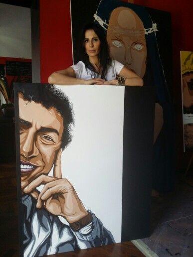My new commission portrait www.luciaferrara.it in My studio !