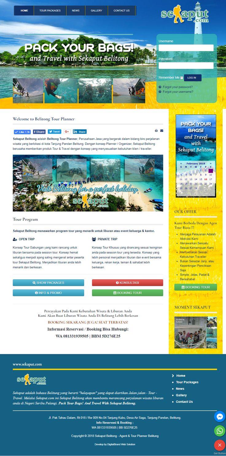Sekaput Belitong. Website tour & travel yang didesain elegan untuk bisnis jasa wisata di Belitung. (2018)