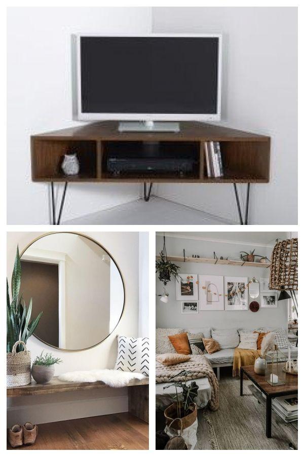 Meuble Tv D Angle Vintage Double Plateau Jimi Angletvcabinet