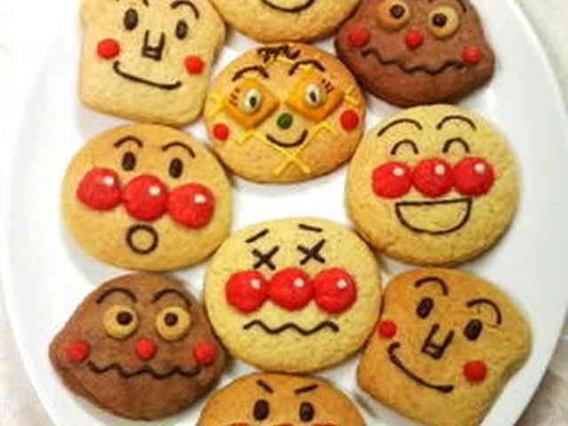 子供が大好きアンパンマンクッキー☆の画像