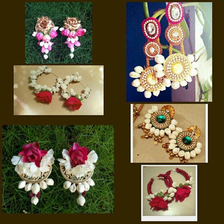 Floral earrings by SIRAA