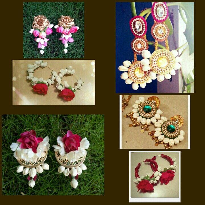 Floral earrings by SIRAA