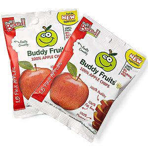 Healthy Packaged Snacks Sides for the Lunch Box: Buddy Fruits 100% Apple Chips (via Parents.com)