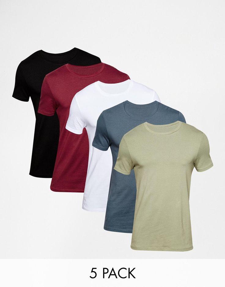 Muskelshirt T-Shirt von ASOS elastischer Jersey eng geschnittene Ärmel sitzt eng am Körper enge Passform Maschinenwäsche 94% Baumwolle, 6% Elastan Model trägt Größe M und ist 178 cm/5 Fuß 10 Zoll groß