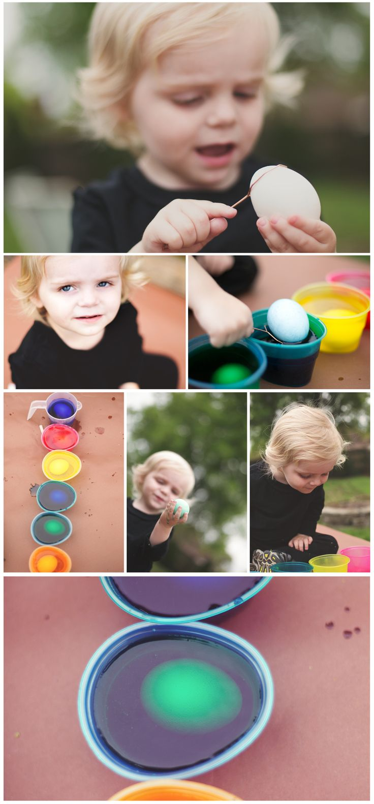 Egg Dyeing with a Toddler