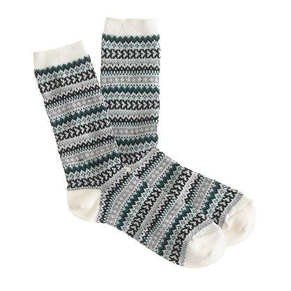 Heart Fair Isle Socks