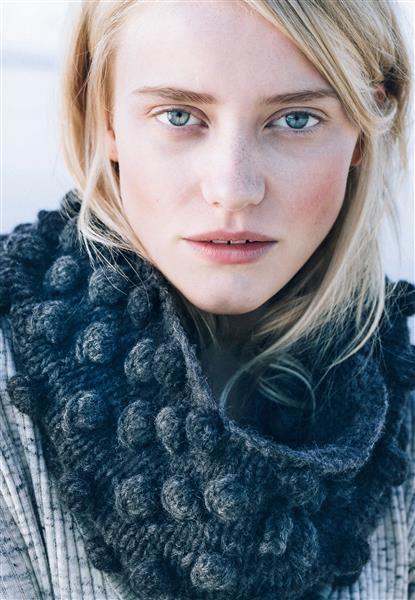 1417: Modell 12 Hals med boblemønster #Myk #strikk #knit