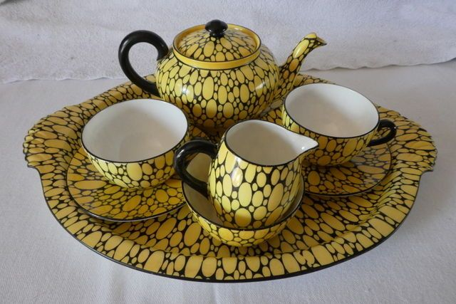 Rare Shelley Bubbles Pattern Tea For Two Set on Tray    eBay
