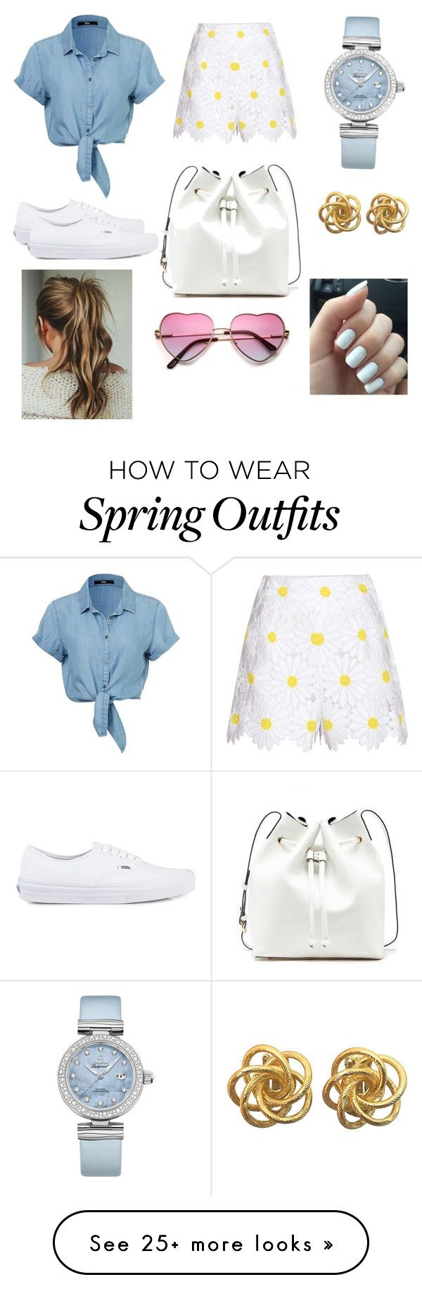 """""""Spring outfit"""" by itsjillianperry on Polyvore featuring Dolce&Gabbana, Vans, Sole Society, OMEGA, women's clothing, women, female, woman, misses and juniors"""