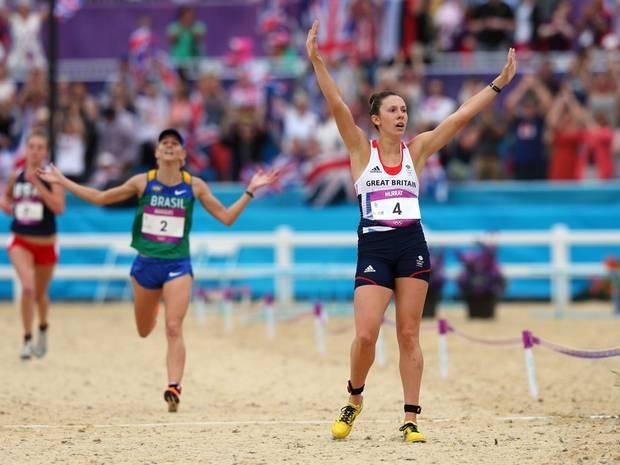 Samantha Murray wins Silver in the Women's Modern Pentathlon on Day 16